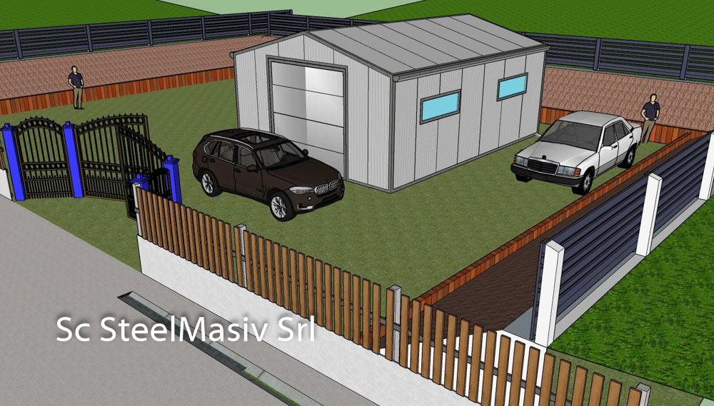structura garaj metalic